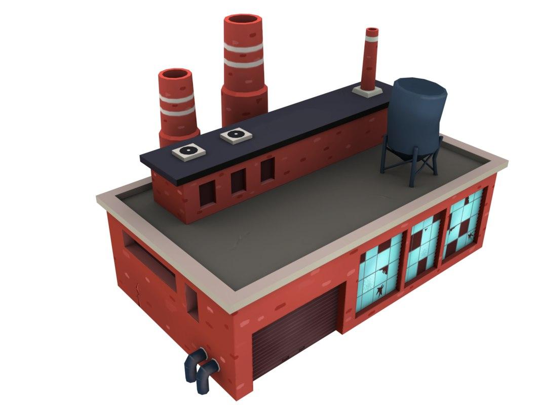 brick factory 3D model