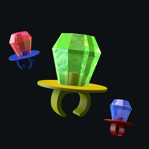 3D ring pop candy model