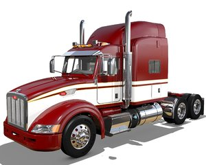 p386 semi truck 3D