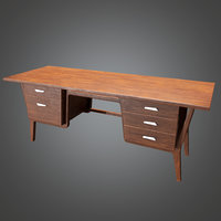 Desk 01(Midcentury Mod) - PBR Game Ready 3D