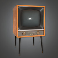 Retro Television 03 (Midcentury Mod) - PBR Game Ready 3D