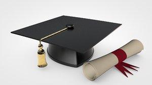 graduation cap model