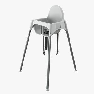 ikea antilop highchair 3D model