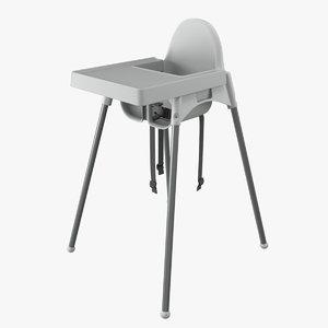 3D model ikea antilop highchair tray