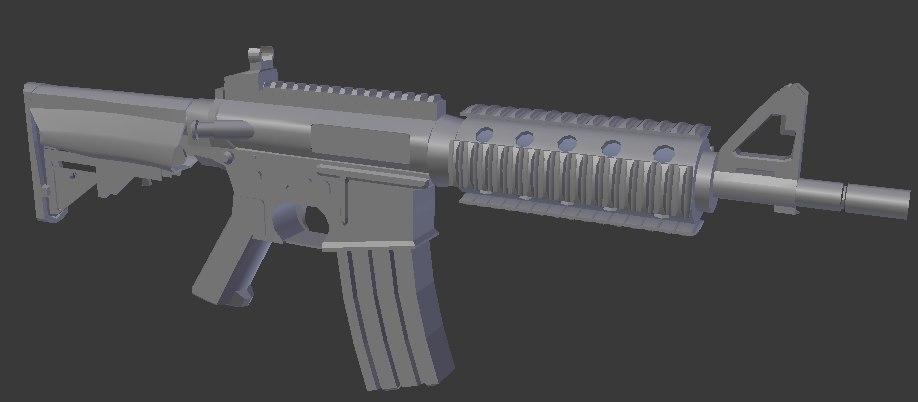 3D rifle unity