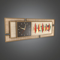 Retro Clock 01 (Midcentury Mod) - PBR Game Ready 3D