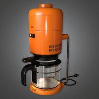 Coffee Machine 01 (Midcentury Mod) - PBR Game Ready 3D