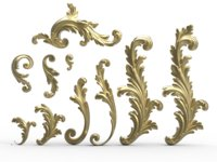 Acanthus leaf scroll collection