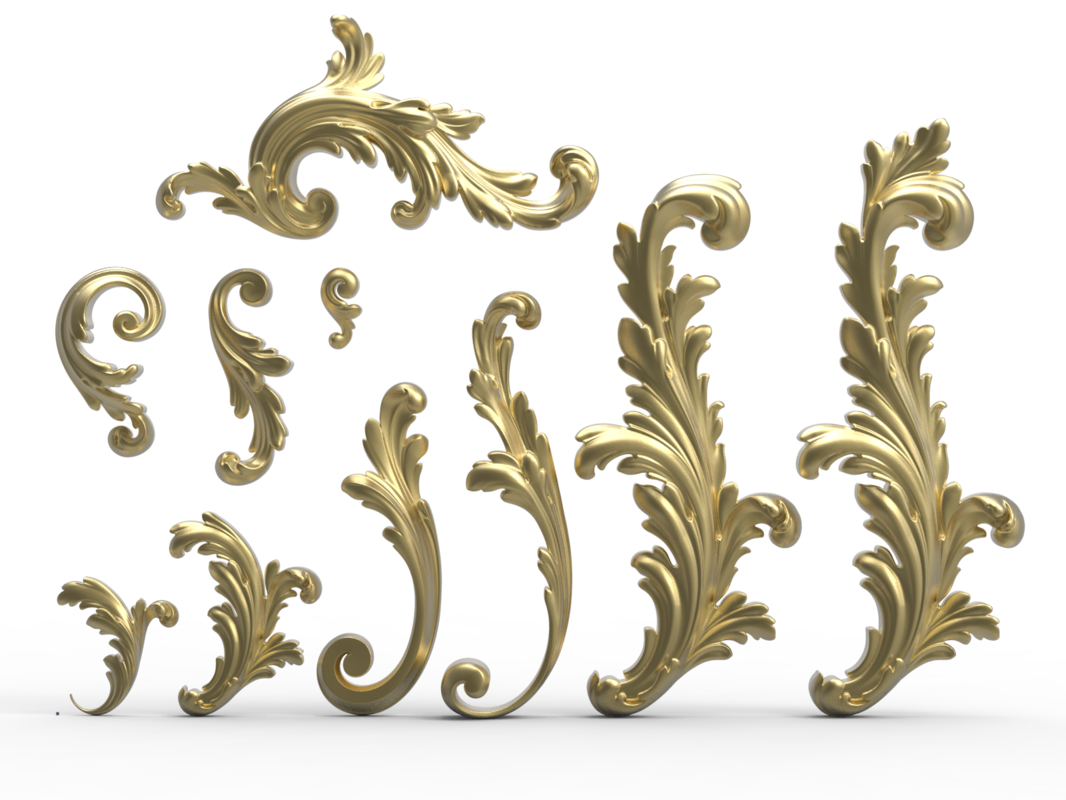 acanthus leaf scroll 3D model