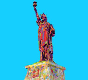 3D art style liberty statue