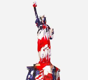 art usa color liberty statue 3D model