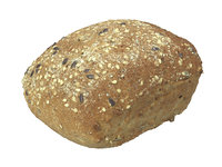 3D photorealistic scanned seeded bread model