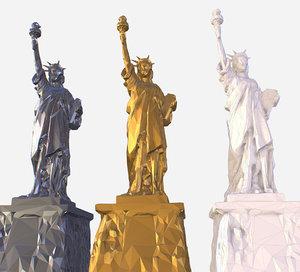 3D art statue liberty model