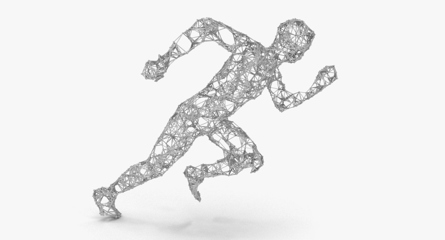 3D model abstract human pose running