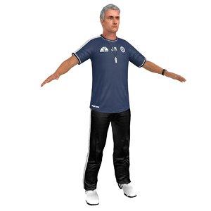 3D jose mourinho training man