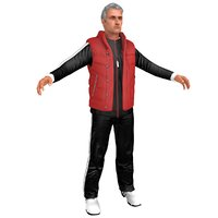 jose mourinho training man 3D model