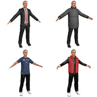 pack jose mourinho man 3D model