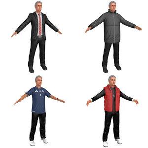 pack jose mourinho man 3D model