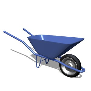 construction push cart 3D model