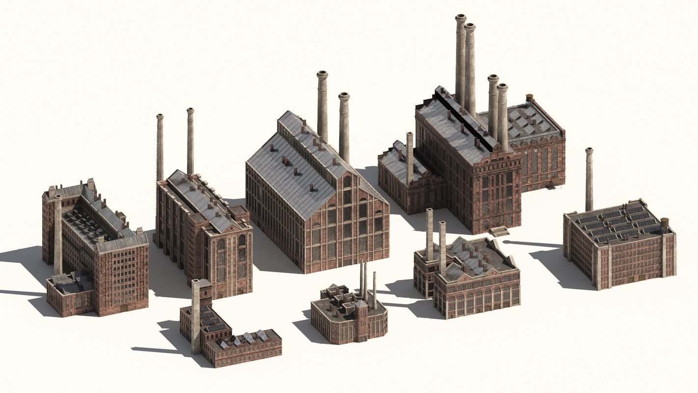 industrial buildings 3D