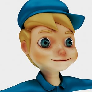 3D male man child model