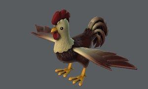 3D base cartoon chick