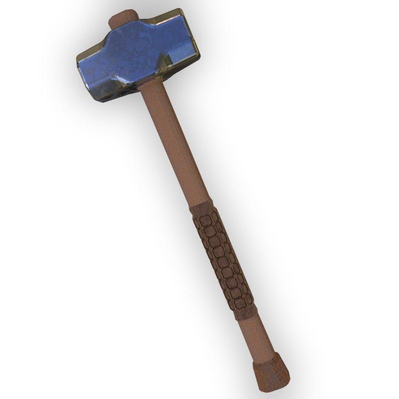 sledgehammer industrial tool 3D model