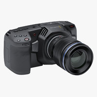 3D photoreal camera blackmagic pocket model
