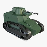 3D model old tank