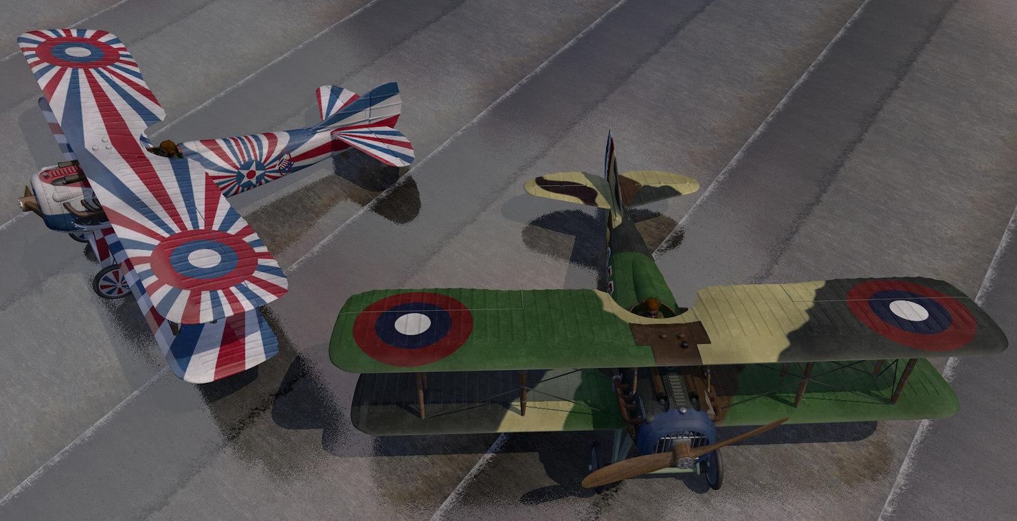 plane spad s-13 model