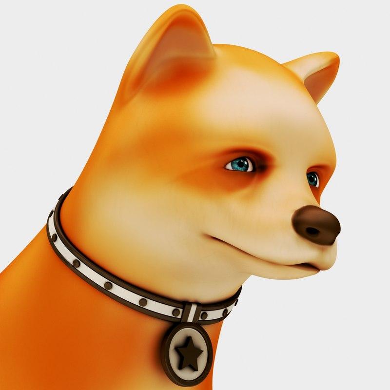 3D dog toon model
