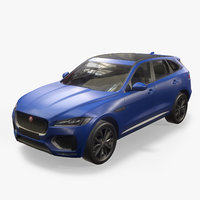 f-pace 2017 suv 3D model