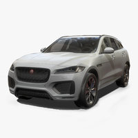 Jaguar F-Pace Low Poly