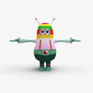 3D cute alien
