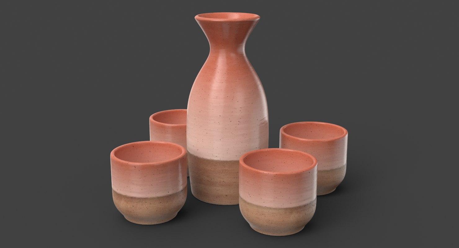 sake set 3D