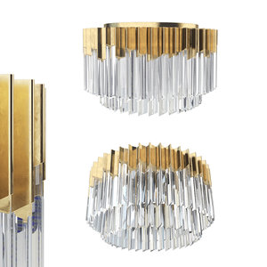 3D model corbett lighting 220-33 lamps