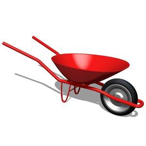 push cart garden 3D model