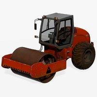 3D model road compactor hamm 3414