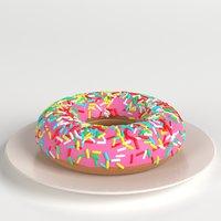 stylized donut sprinkles 3D model