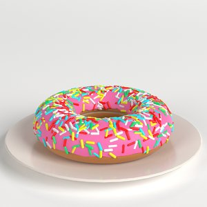 stylized donut sprinkles 3D model