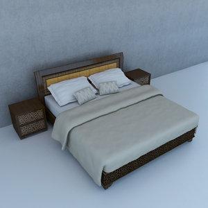 moroccan bed 3D model