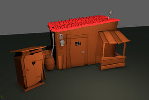 old shack 3D