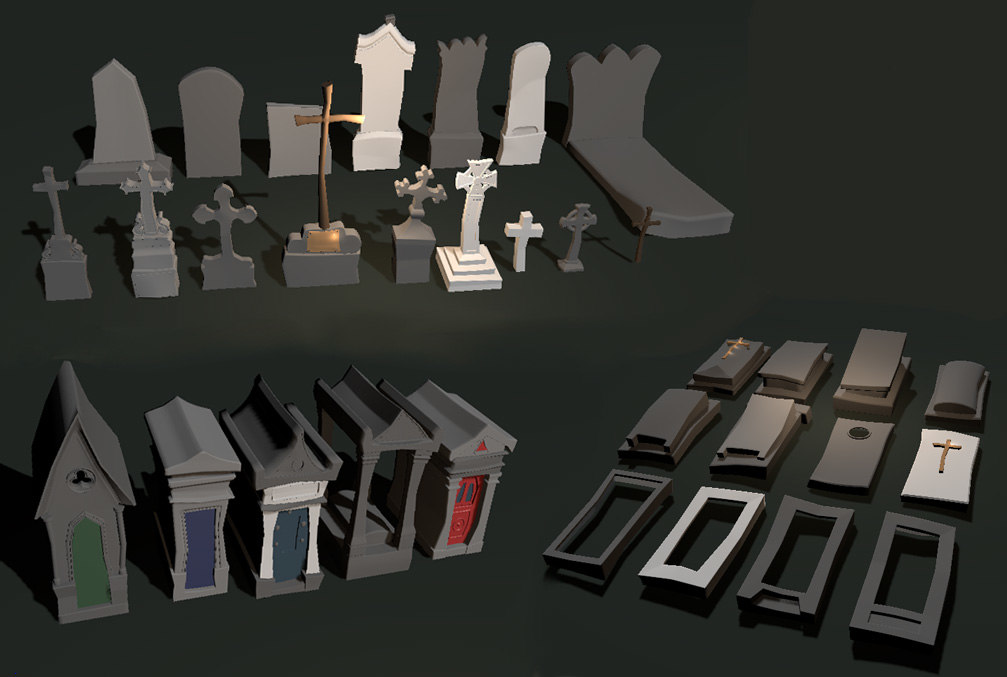 3D tombes graves model