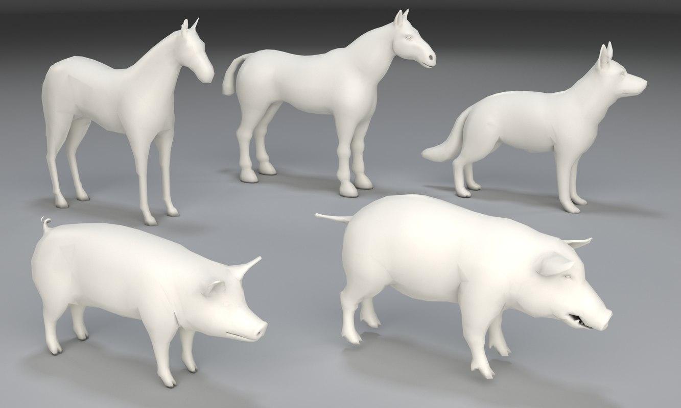 3D animals dog
