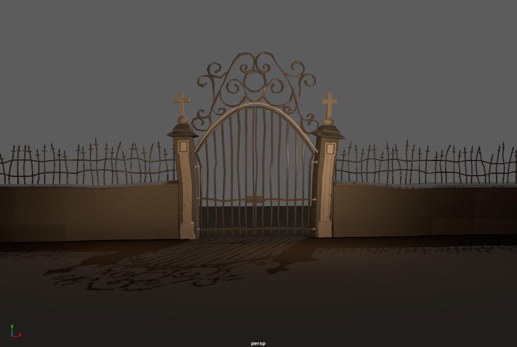 portal stone wall model