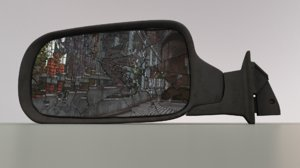 3D broken car mirror
