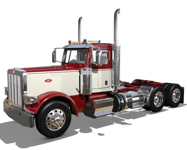 3D 389 semi truck