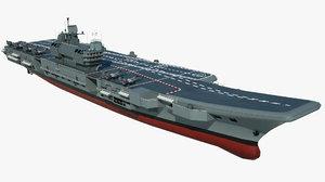 3D model large aircraft carrier vivaat