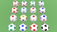 football balls world europe model