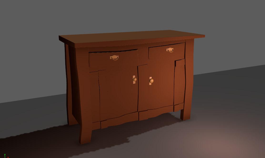 3D cupboard : model